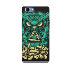 Owl Art design,  Oppo Real Me 1 hard plastic printed back cover