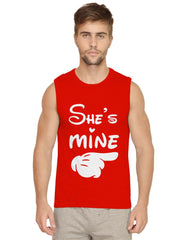 She's mine BF,GF design Mens Vests