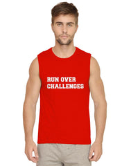 Crush your challenges, rise above them Mens vests