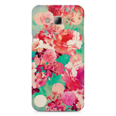 Floral  design,  Samsung Galaxy E7  printed back cover