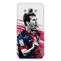 Messi illustration design,  Samsung Galaxy E5  printed back cover