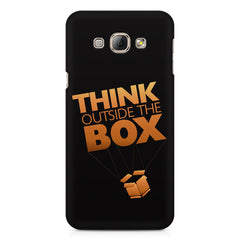 Think Outside The Box- Entrepreneur Lines design,  Samsung Galaxy E5  printed back cover