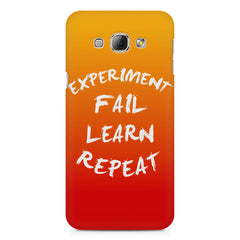 Experiment Fail Learn Repeat - Entrepreneur Quotes design,  Samsung Galaxy E5  printed back cover