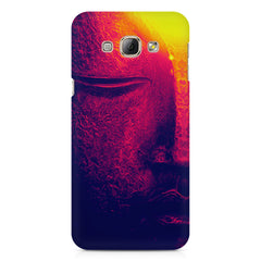 Half red face sculpture  Samsung Galaxy E7  printed back cover
