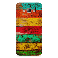 Strips of old painted woods  Samsung Galaxy E5  printed back cover