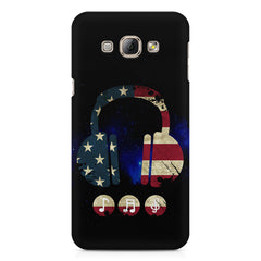 America tunes Blue sprayed  Samsung Galaxy E5  printed back cover