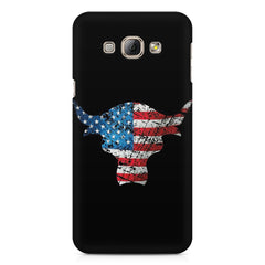 The Rock with flag colors Samsung Galaxy E5  printed back cover