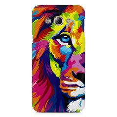 Colourfully Painted Lion design,  Samsung Galaxy E5  printed back cover