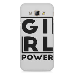 Girl power deisgn Samsung Galaxy E5  printed back cover