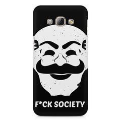 Fuck society design Samsung Galaxy E7  printed back cover