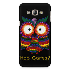 Owl funny illustration Hoo Cares Samsung Galaxy A7  printed back cover