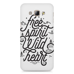 I am a free spirit design Samsung Galaxy E5  printed back cover