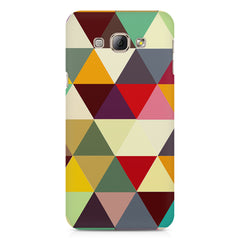 Colourful pattern design Samsung Galaxy E7  printed back cover