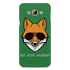 No fox given design Samsung Galaxy E7  printed back cover