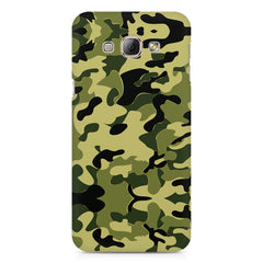 Camoflauge army color design Samsung Galaxy E7  printed back cover