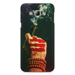 Smoke weed (chillam) design Samsung Galaxy E7  printed back cover