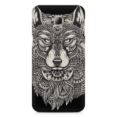 Fox illustration design Samsung Galaxy A7  printed back cover