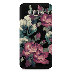 Abstract colorful flower design Samsung Galaxy E7  printed back cover