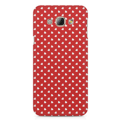 Cute hearts all over the cover design    Samsung Galaxy A3 hard plastic printed back cover