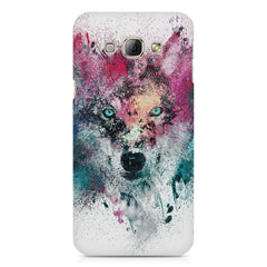 Splashed colours Wolf Design Samsung Galaxy A3 hard plastic printed back cover