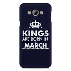 Kings are born in March design    Samsung Galaxy A3 hard plastic printed back cover