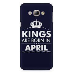 Kings are born in April design    Samsung Galaxy A3 hard plastic printed back cover