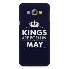 Kings are born in May design    Samsung Galaxy A3 hard plastic printed back cover