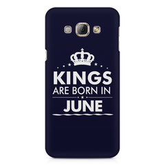 Kings are born in June design    Samsung Galaxy A3 hard plastic printed back cover