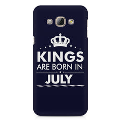 Kings are born in July design    Samsung Galaxy A3 hard plastic printed back cover