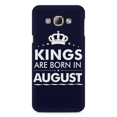 Kings are born in August design    Samsung Galaxy A3 hard plastic printed back cover