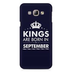 Kings are born in September design    Samsung Galaxy A3 hard plastic printed back cover