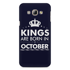Kings are born in October design    Samsung Galaxy A3 hard plastic printed back cover