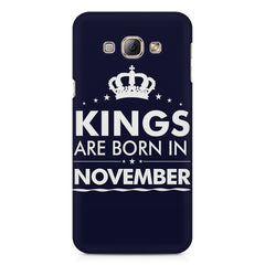 Kings are born in November design    Samsung Galaxy A3 hard plastic printed back cover