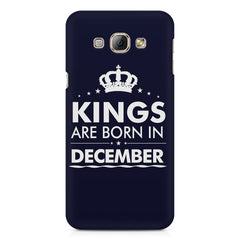 Kings are born in December design    Samsung Galaxy A3 hard plastic printed back cover