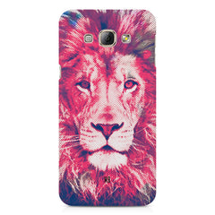 Zoomed pixel look of Lion design Samsung Galaxy A3 hard plastic printed back cover