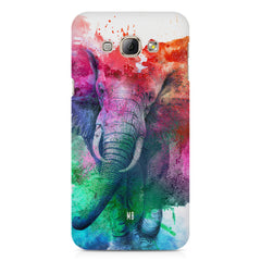 colourful portrait of Elephant Samsung Galaxy A3 hard plastic printed back cover