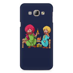 Punjabi sardars with chicken and beer avatar Samsung Galaxy A3 hard plastic printed back cover