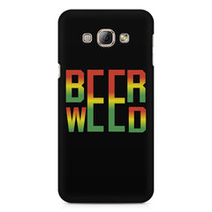 Beer Weed Samsung Galaxy A3 hard plastic printed back cover