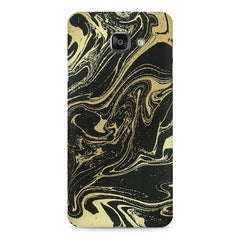 Golden black marble design Samsung Galaxy A7 (2016)  printed back cover