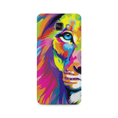 Colourfully Painted Lion design,  Samsung Galaxy A7 (2016)  printed back cover