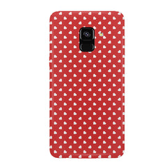 Cute hearts all over the cover design hard plastic printed back cover/case Samsung J6 Plus hard plastic all side printed back cover.