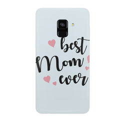 Best Mom Ever Design Samsung J6 Plus hard plastic all side printed back cover.