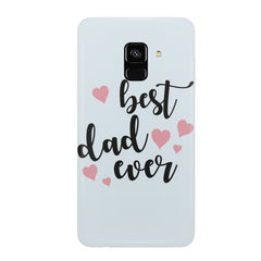 Best Dad Ever Design Samsung J6 Plus hard plastic all side printed back cover.