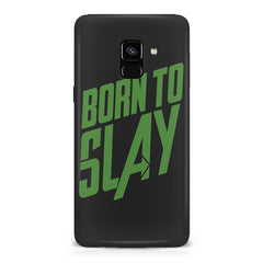 Born to Slay Design Samsung A6 plus hard plastic printed back cover.