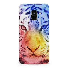 Colourful Tiger Design Samsung A8 plus 2018 hard plastic printed back cover