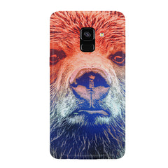 Zoomed Bear Design  Samsung J6 Plus hard plastic all side printed back cover.