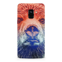 Zoomed Bear Design  Samsung A8 plus 2018 hard plastic printed back cover