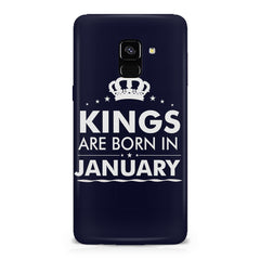 Kings are born in January design    Samsung A8 plus 2018 hard plastic printed back cover