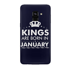 Kings are born in January design all side printed hard back cover by Motivate box Samsung J6 Plus hard plastic all side printed back cover.