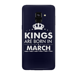 Kings are born in March design all side printed hard back cover by Motivate box Samsung J6 Plus hard plastic all side printed back cover.